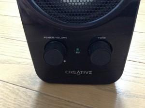 Creative Inspire T10 IN-T10 TONEのつまみで音のトーンを調整