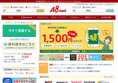 A8.net トップページ