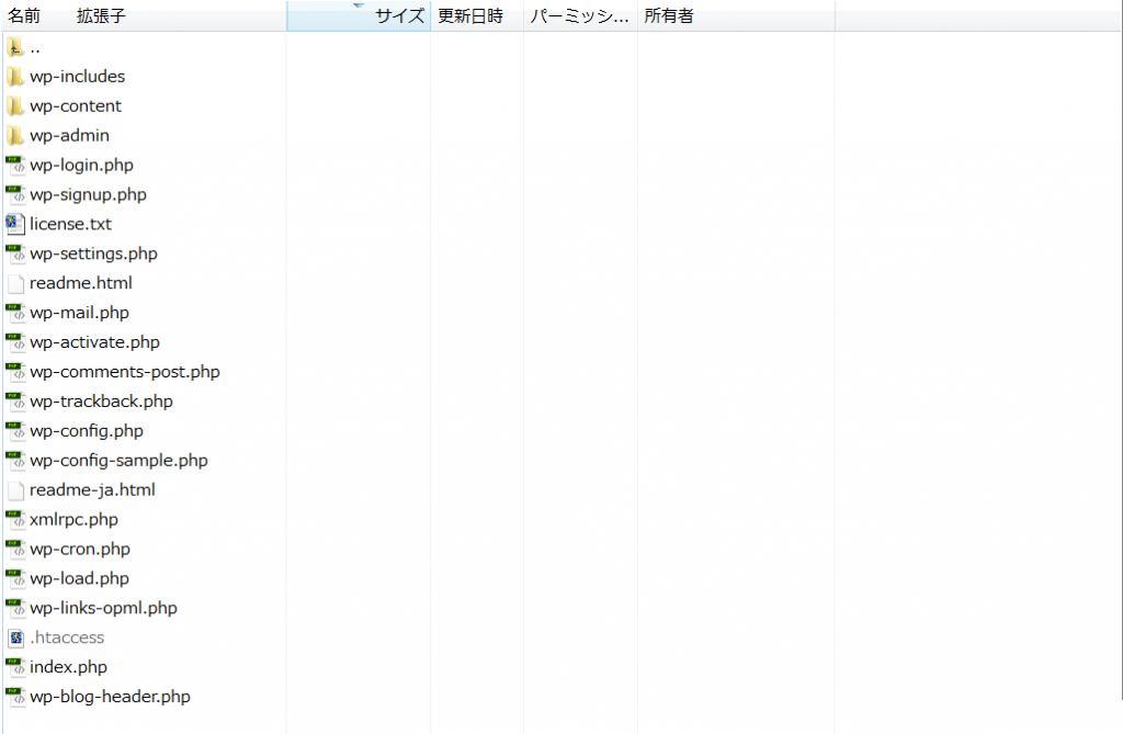 public_html内のサイトファイル一式