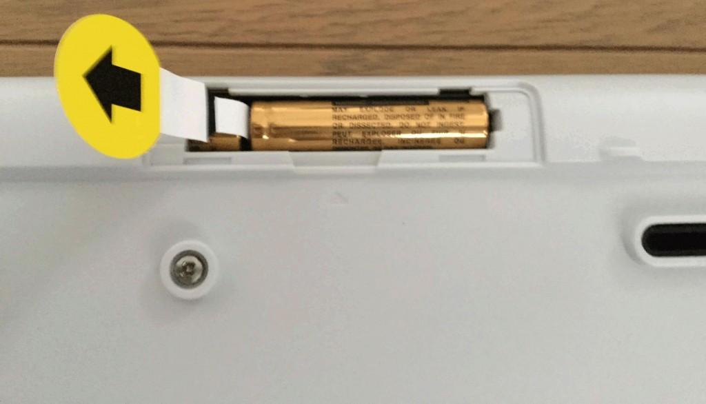 logicool k270 単四形乾電池を2本使用
