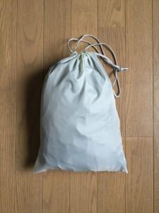 KJ レインポンチョ ハイポンチョ 袋にポンチョを収納