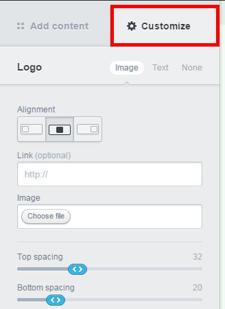 Campaign Monitor 「Customize」でテキストのカラーやフォントを変更などの調整をする