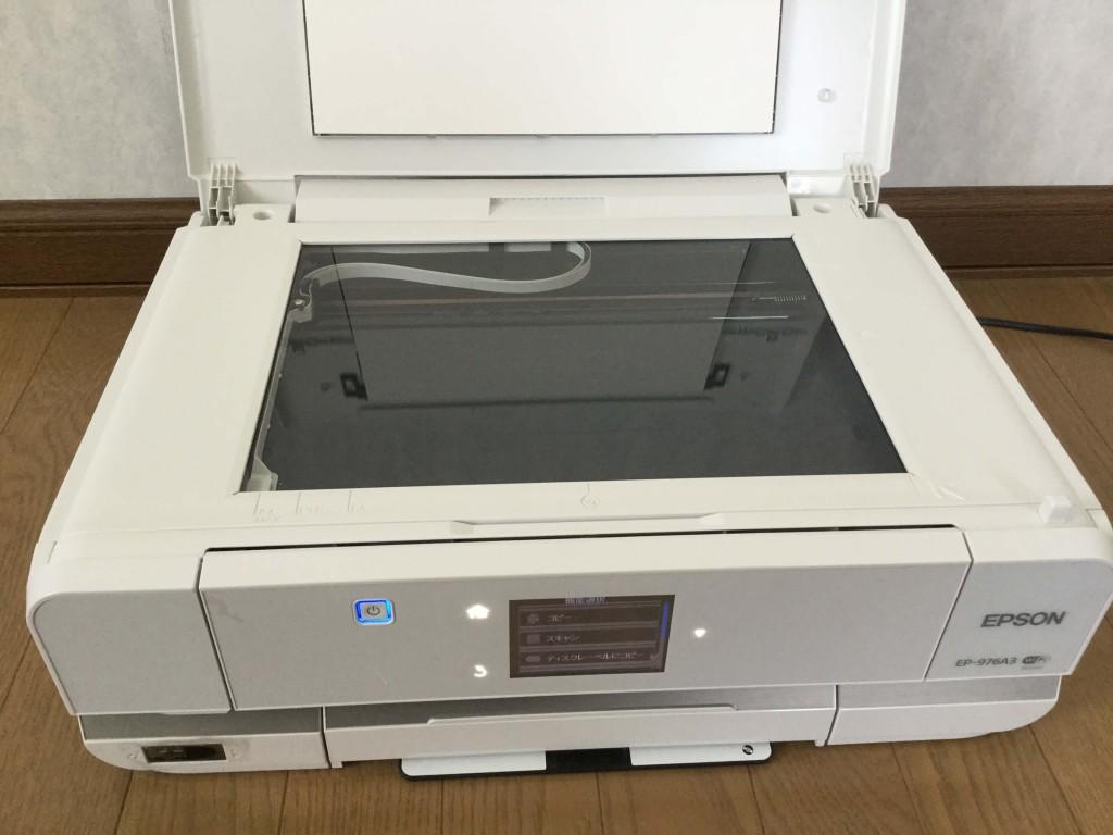 EP-976A3 スキャナ-部 スキャンの最大原稿サイズはA4