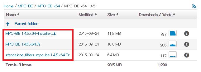 MPC-BE インストール形式を選択