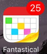 Fantastical 2 for iPhone 現在の日付が表示