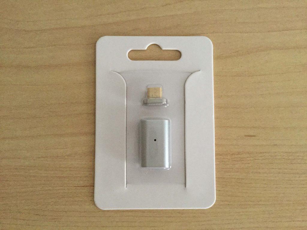 マグネット式 Micro USB 変換 FIRST2SAVVV 内容物はコネクタと変換アダプタ