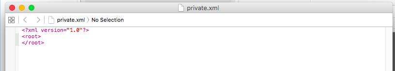 「Karabiner」 「private.xml」ファイルが開く