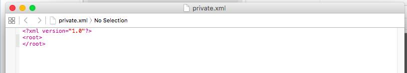 「Karabiner」 「private.xml」ファイルが開く