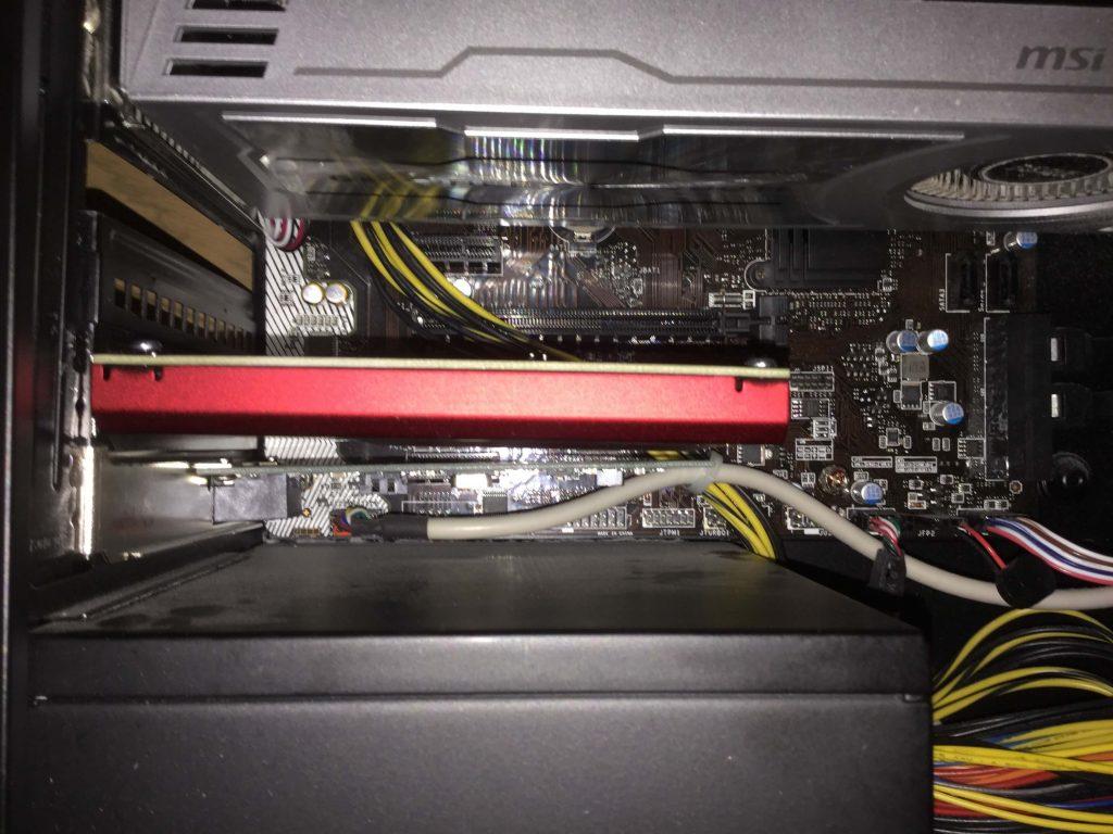 Lev-R017-i7-XM 「Sound Blaster Z」を取り付け