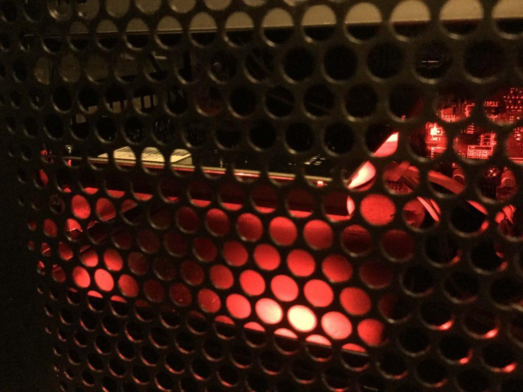「Sound Blaster Z」 赤く発光