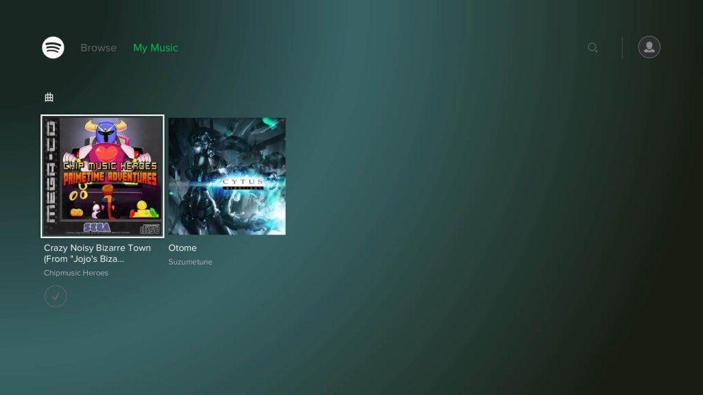 PS4 「Spotify」 他端末の「Spotify」で保存した曲が表示