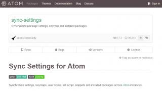 「sync-settings」パッケージでAtomエディタの設定をバックアップ・同期する