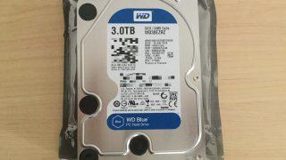 CRCエラーが出たので新しく3TB内蔵ハードディスクの「WD Blue」を買ってみた