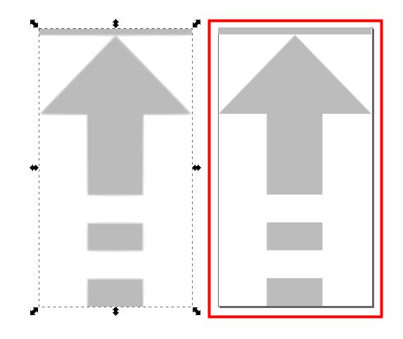 Inkscape パスになる前の画像を削除