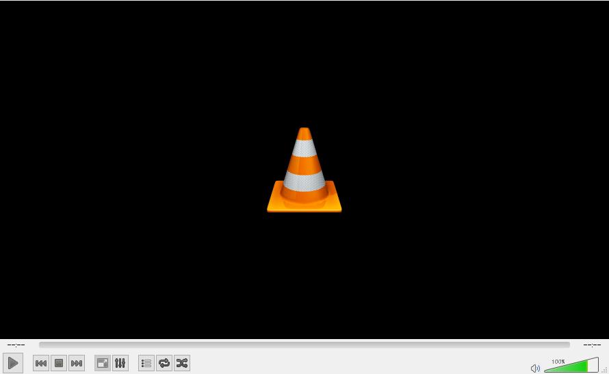 VLCメディアプレイヤーが起動