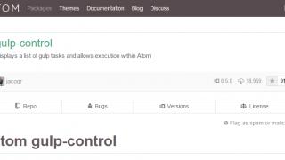 Atomエディタで「Gulp」を操作するなら「gulp-control」パッケージが便利