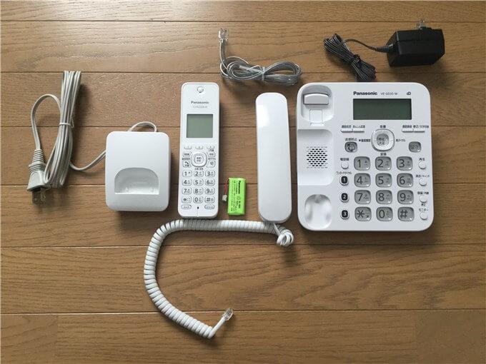 パナソニック 電話機(VE-GD35DL-W) 内容物