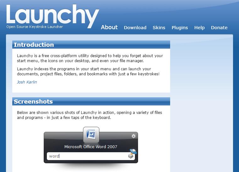 ランチャーソフトのLaunchyを使ってみた   PC ウェブログ