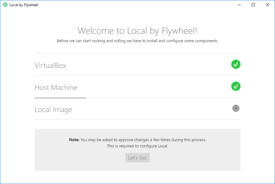 Local by Flywheel インストールが開始される