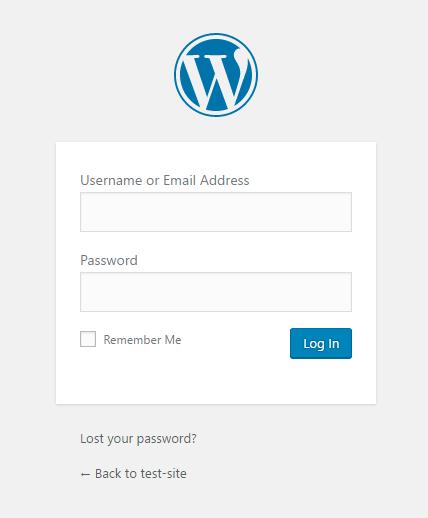 Local by Flywheel 「Admin」をクリックすると管理画面が表示