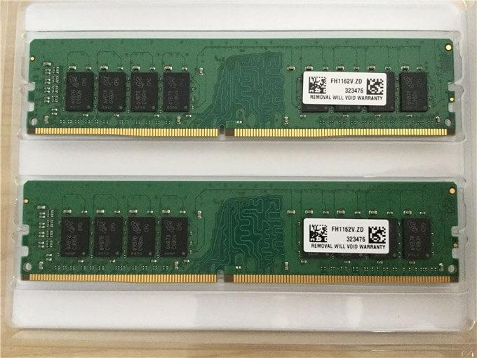 Crucial [Micron製] DDR4 デスク用メモリー 16GB x2のデュアルランク