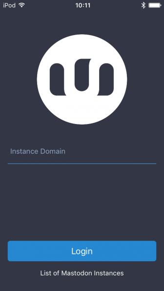 Mastodon-iOS アプリを起動