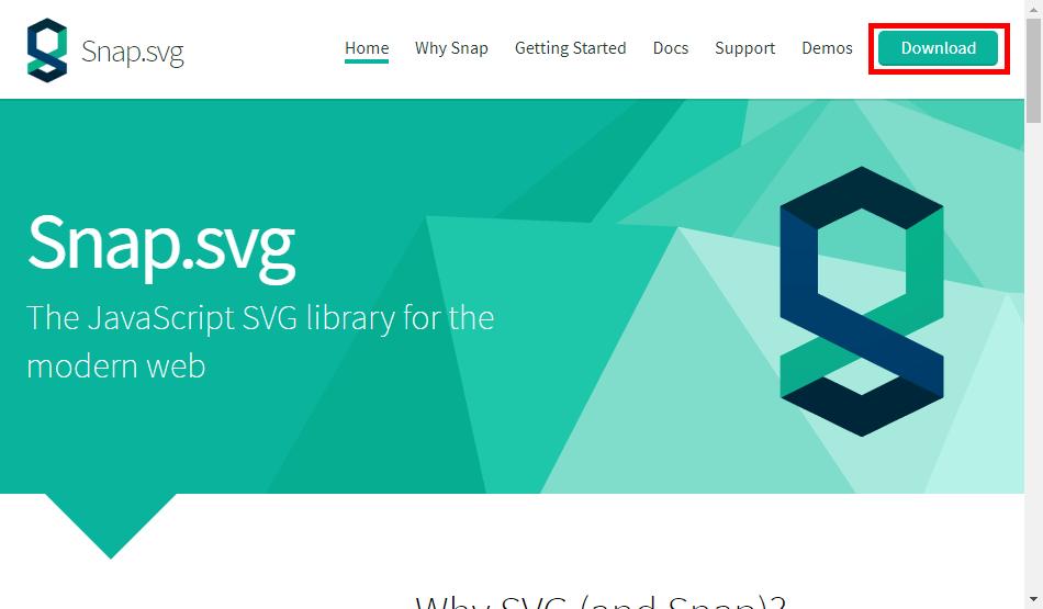 Downloadから「Snap.svg」をダウンロード