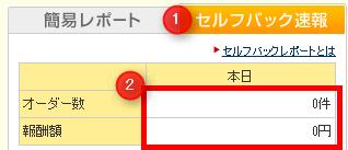 A8.net 「セルフバック速報」タブで確認