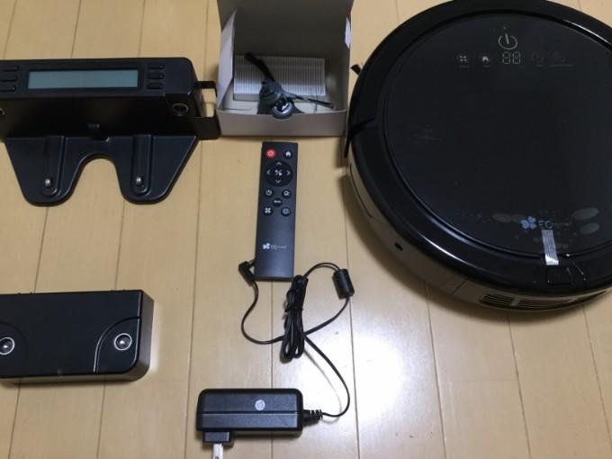 ロボット掃除機 EC Technology ロボットクリーナー 内容物