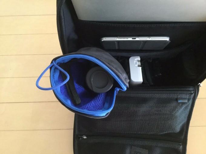 ひらくPCバッグmini 折り畳み傘も収納できる