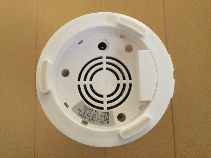 萌えニャンコ 間接照明 卓上加湿器 容器の裏にACアダプタを差し込む穴