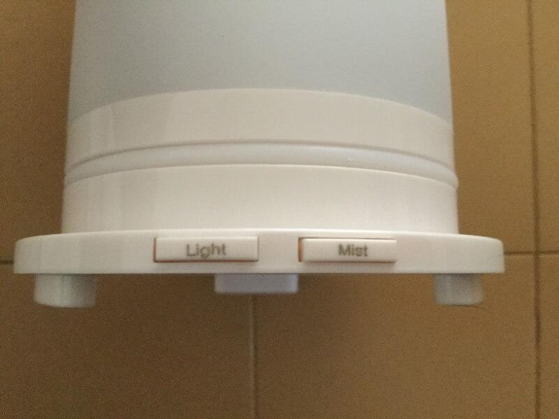 萌えニャンコ 間接照明 卓上加湿器 照明用と蒸気用のスイッチ