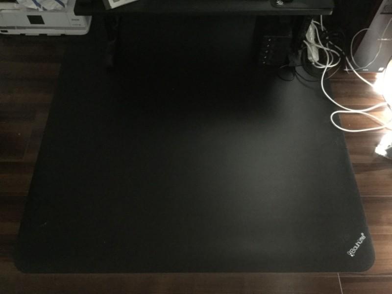 Bauhutte (バウヒュッテ) デスクごとチェアマット BCM-160BK デスクがすっぽり入る大きさ