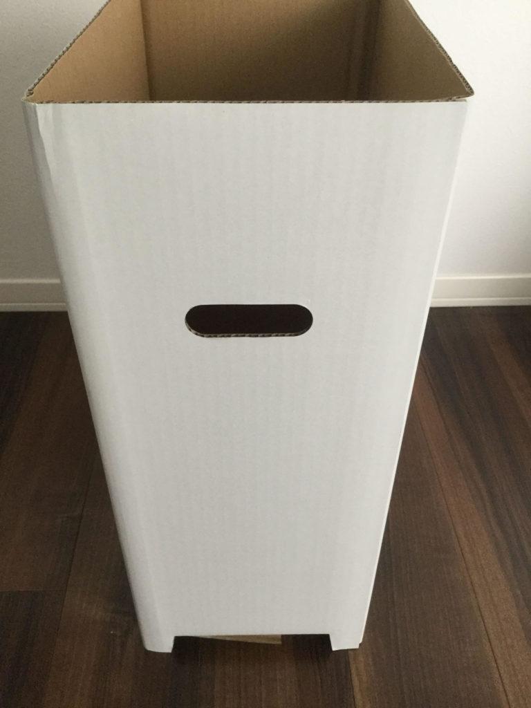 Amazon.co.jp限定 撥水加工 ダンボール ダストボックス 分別 ゴミ箱 サイドに指を差し込む穴