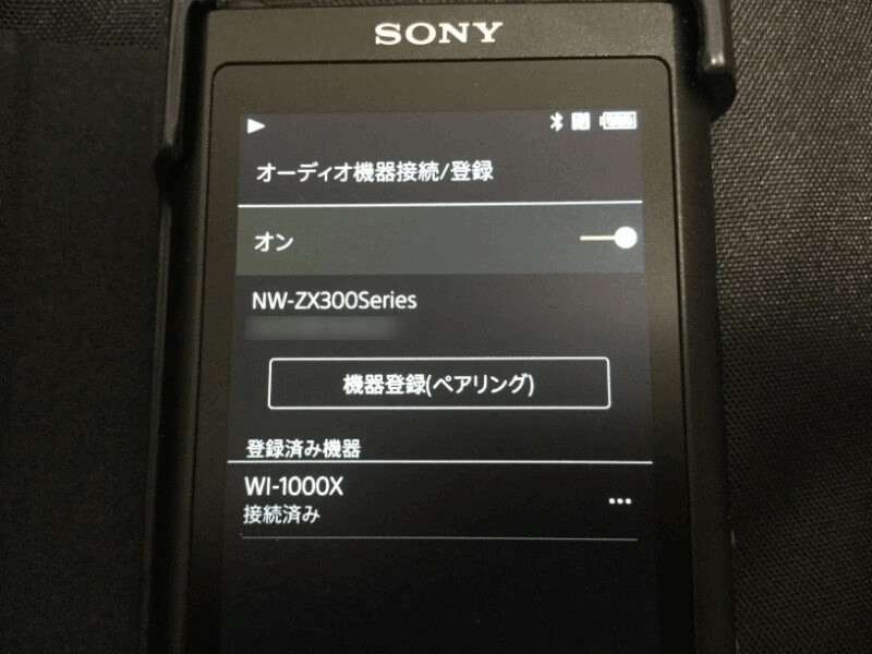 WI-1000X 問題なくペアリングが成功