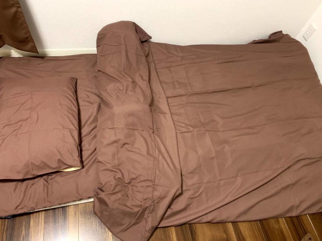 タンスのゲン 布団7点セット シングルロング 中綿1.6kg 抗菌 防臭 洗える 収納ケース付き 生地は抗菌防臭効果がある