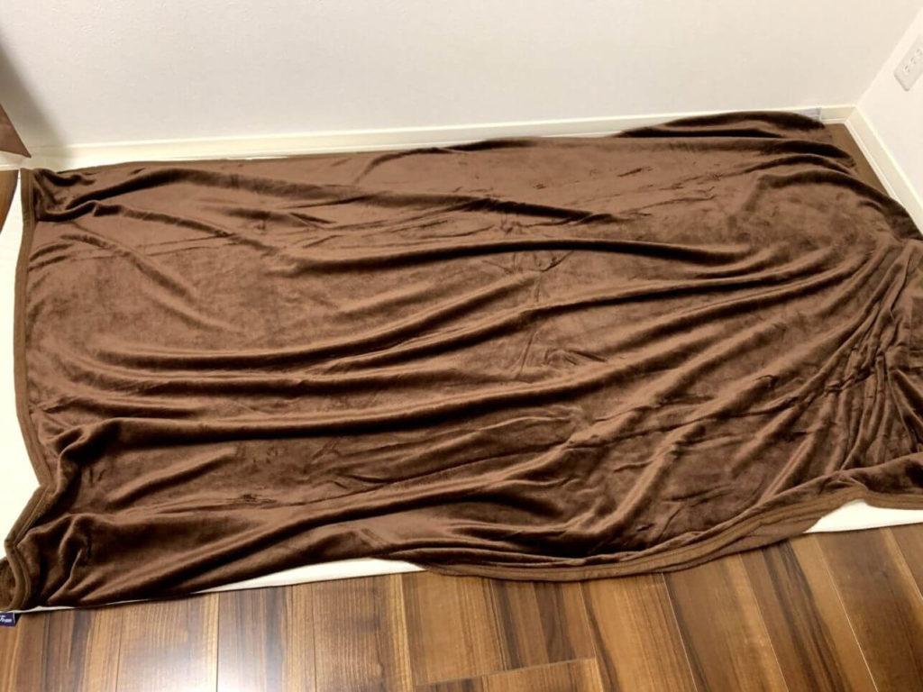 昭和西川 毛布 ブランケット シングル 薄手だがかなり暖かい